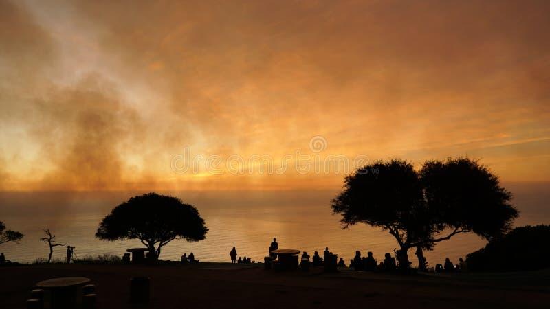Vues de coucher du soleil de colline de signal à Cape Town, Afrique du Sud photos stock