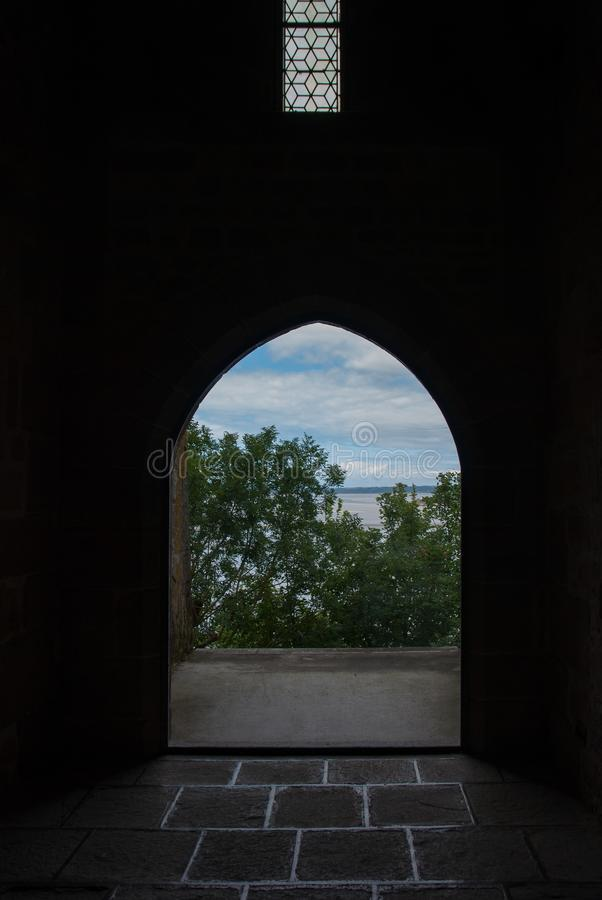 Vues de l'intérieur de Mont Saint Michel france photographie stock