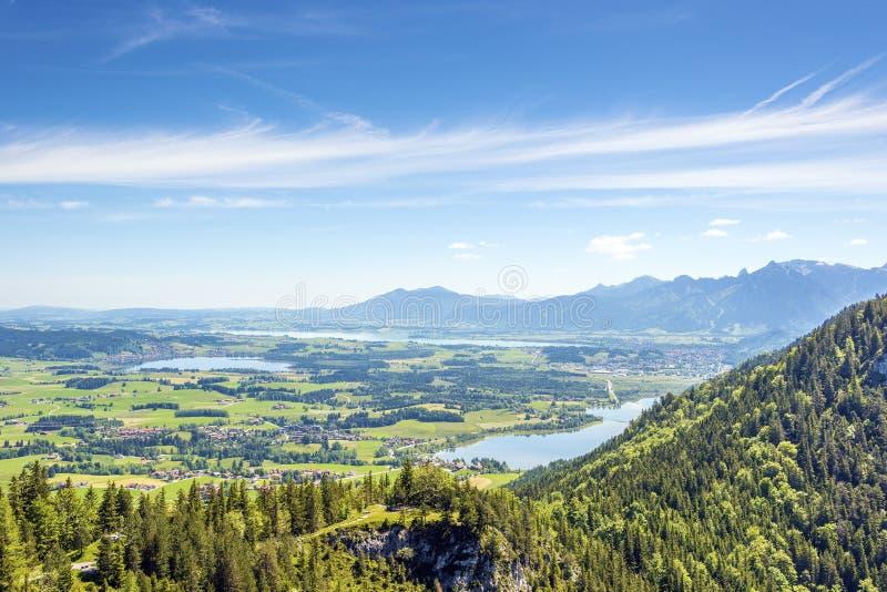 Vues de la région d'Allgäu de la Bavière images stock