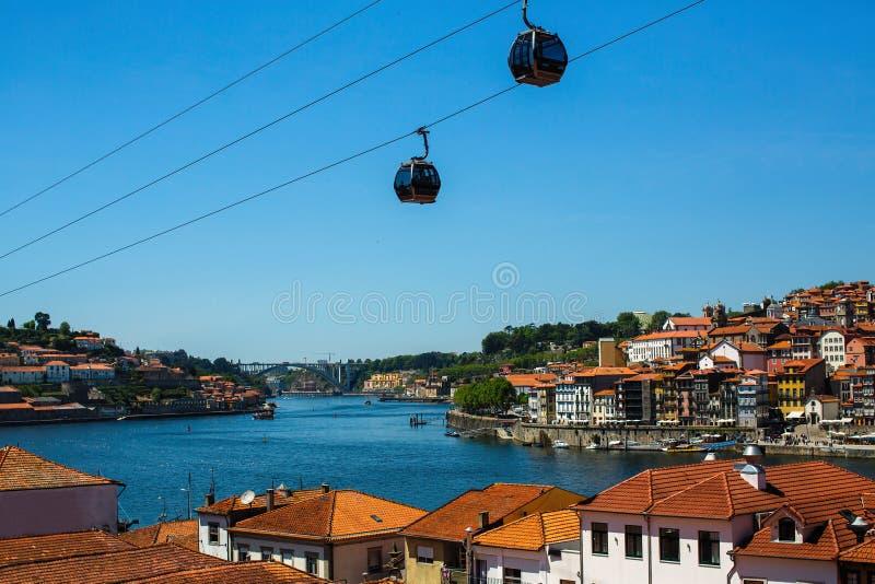 Vues de la rivière de Douro de Vila Nova de Gaia - Porto image libre de droits