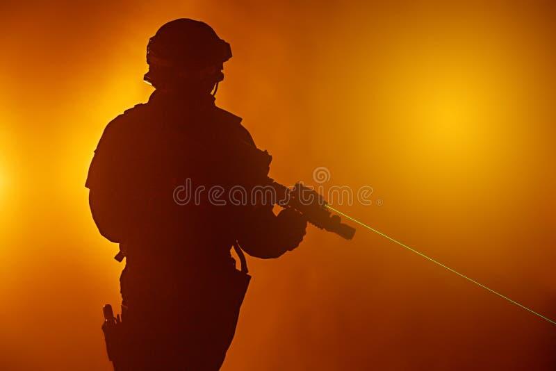 Vues de laser images stock