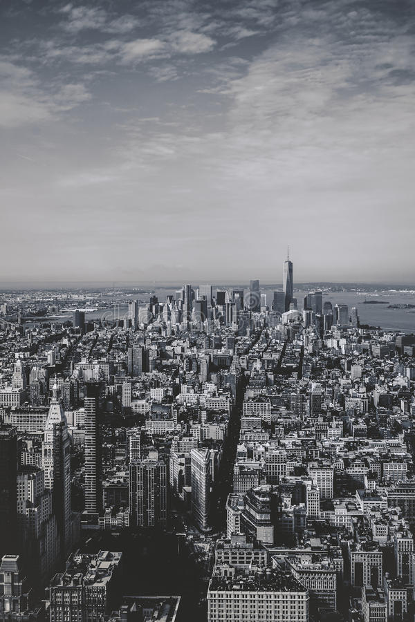 Vues de Manhattan d'Empire State Building photographie stock libre de droits