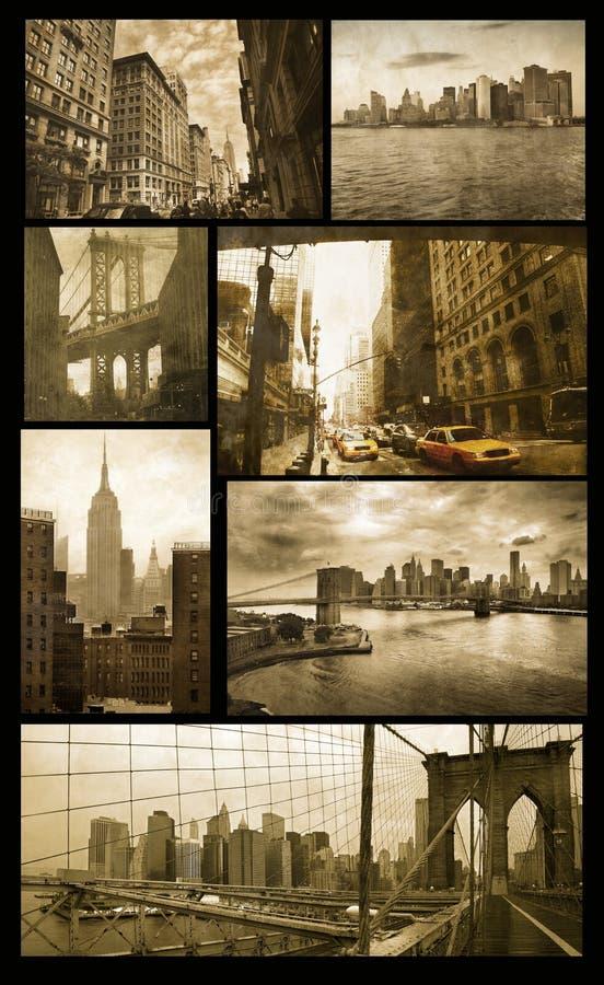 Vues de Manhattan sur la grunge image libre de droits