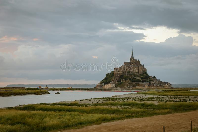 Vues de Mont Saint Michel france photos libres de droits