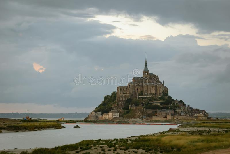 Vues de Mont Saint Michel france image stock