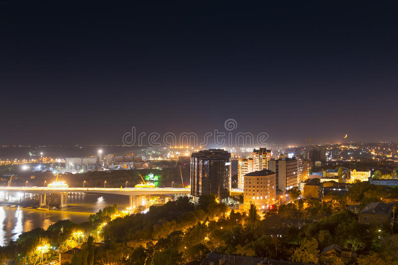 Vues de nuit de Rostov-On-Don, Russie image stock