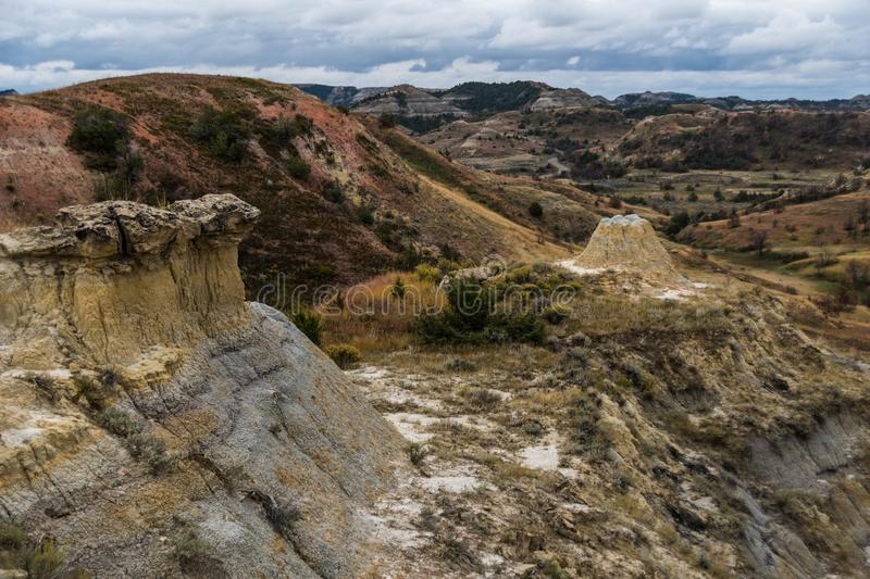 Vues de paysage de Theodore Roosevelt National Park photos stock