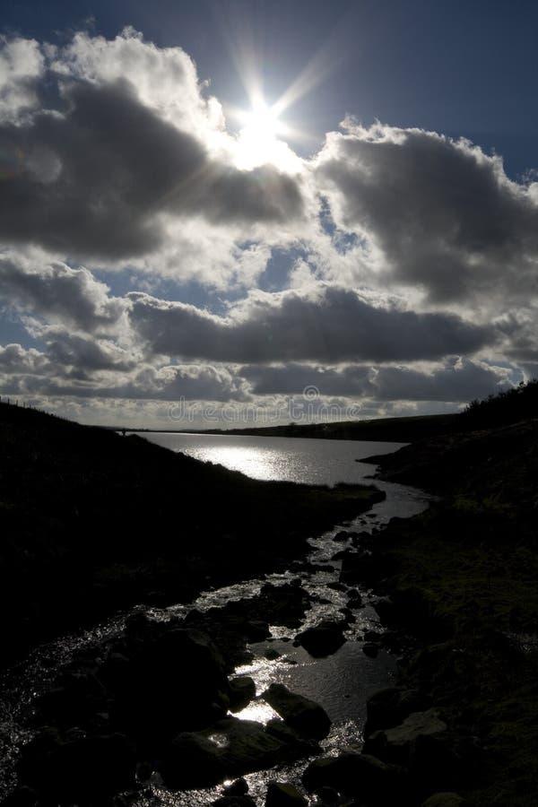 Vues de réservoir de Grimwith photos libres de droits
