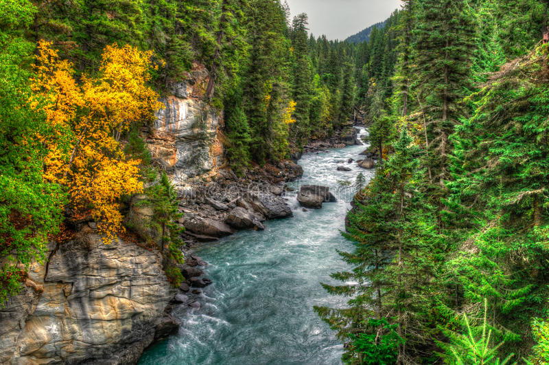 Vues de rivière photo libre de droits