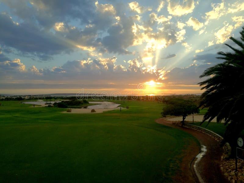 Vues de terrain de golf photographie stock libre de droits