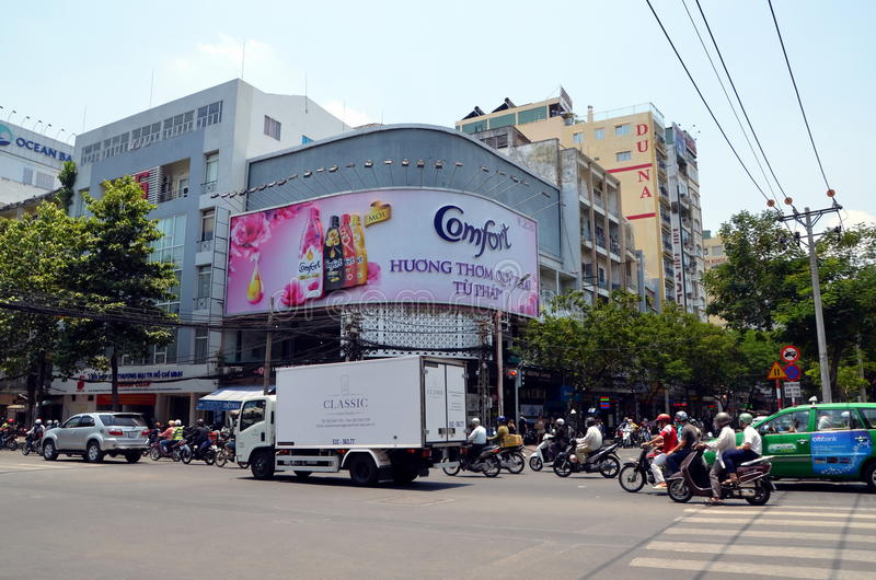 Vues de ville de Saigon, Vietnam photos libres de droits