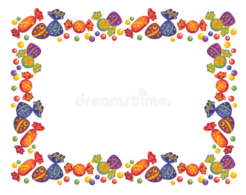 Vues des sucreries illustration libre de droits