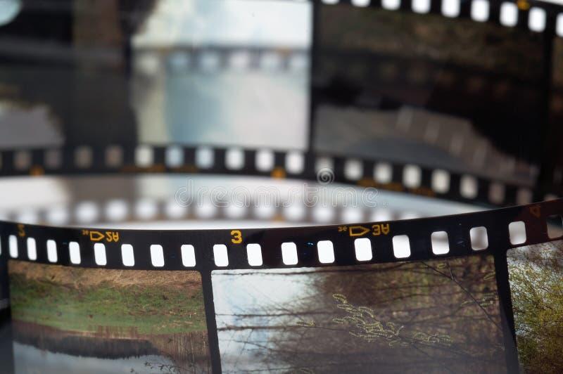 Vues du film de glissière image stock