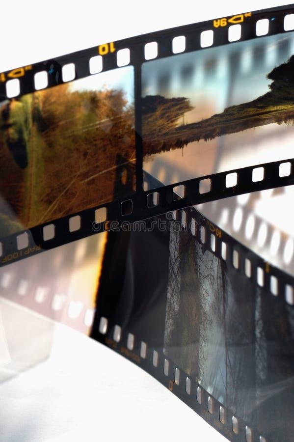 Vues du film de glissière photos stock