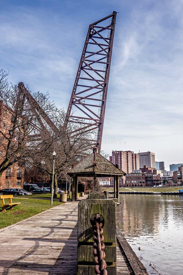 Vues et environs de paysage urbain de Cleveland Ohio image libre de droits