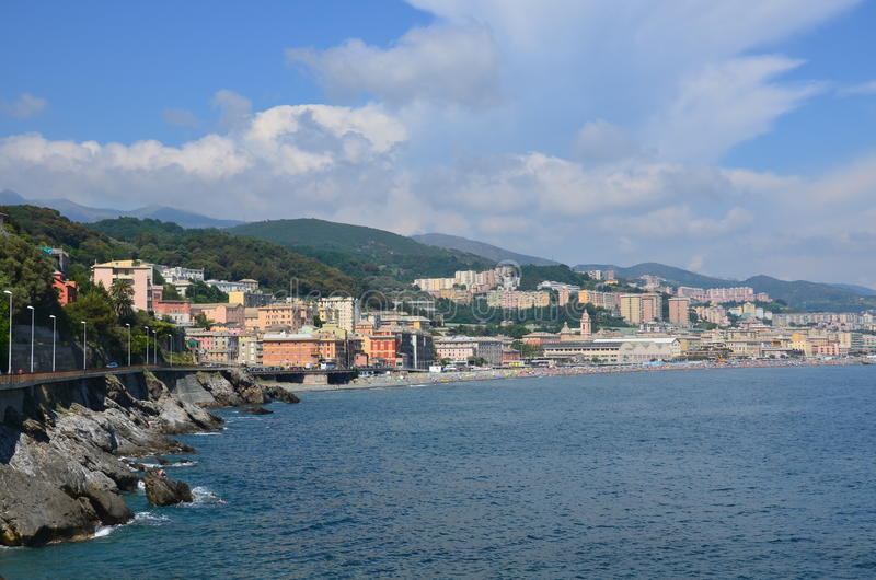 Vues magnifiques de la mer la ville antique Italie photo libre de droits