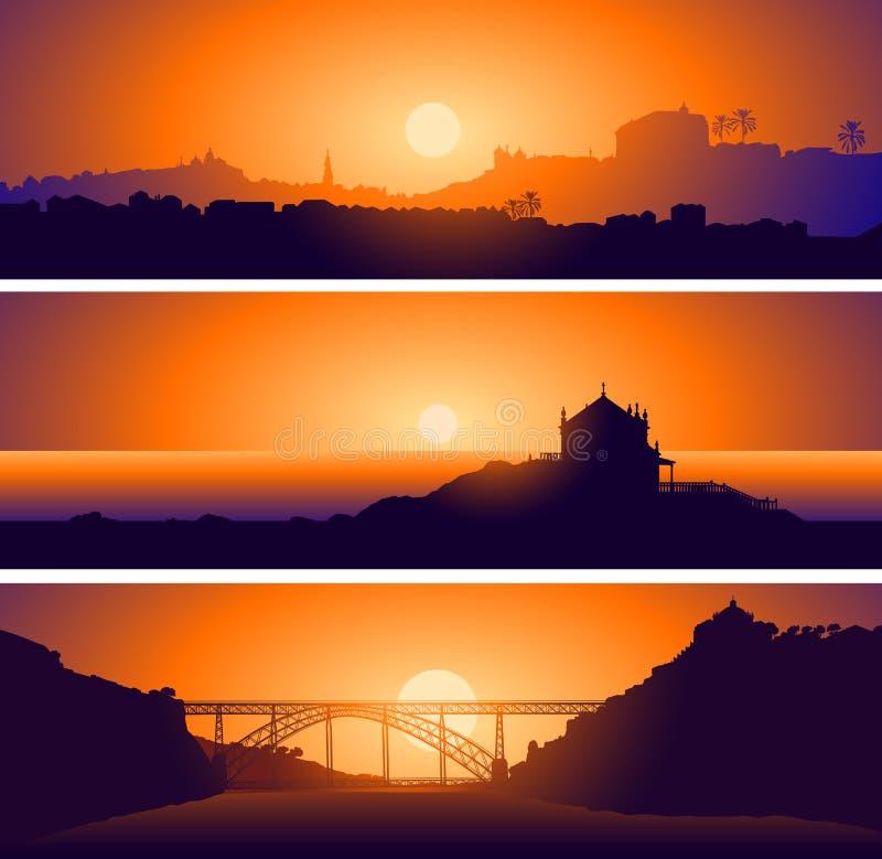 Vues panoramiques de Porto. Portugal illustration libre de droits