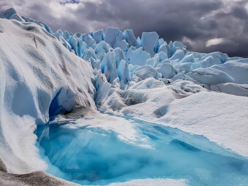 Vues scéniques de Glaciar Perito Moreno, EL Calafate, Argentine image libre de droits