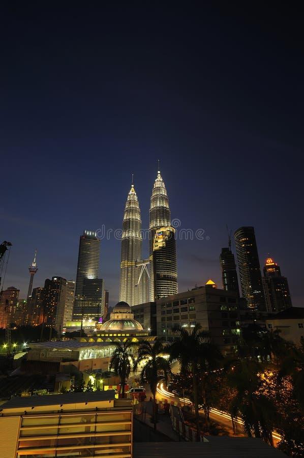 Vues sur Kuala Lumpur City Centre (KLCC) photographie stock libre de droits