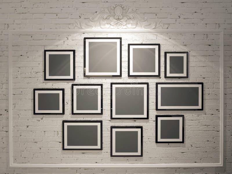 Vues sur le mur de briques blanc photos libres de droits