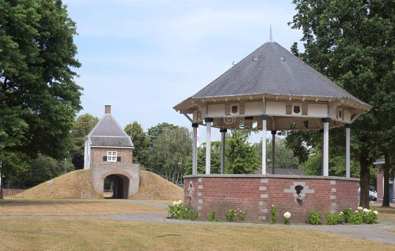 Fort Isabella in Vught, the Netherlands. Vught, the Netherlands. July 2018. Fort Isabella in Vught, former military barracks and fortress stock photo