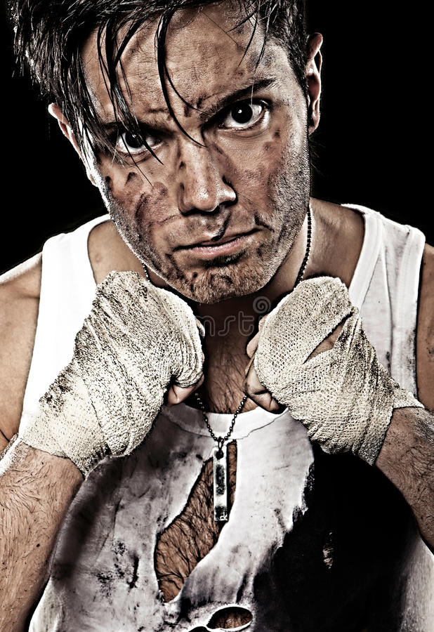 Vuil bokserponsen royalty-vrije stock afbeelding