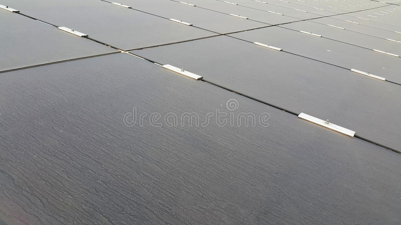 Vuil Dusty Photovoltaic Panels royalty-vrije stock afbeelding