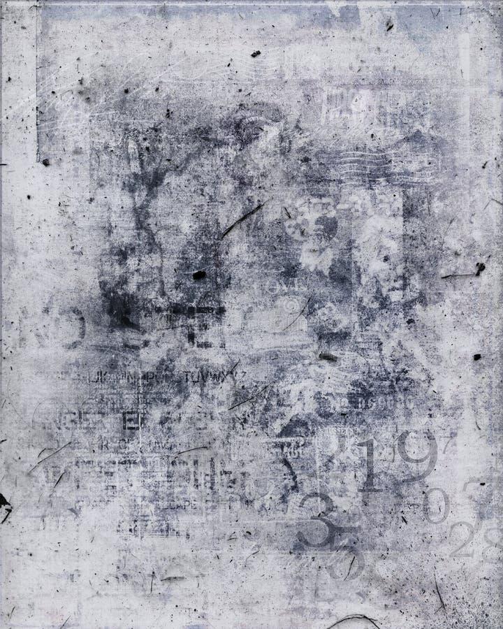 Vuil grungedocument van de collage vector illustratie