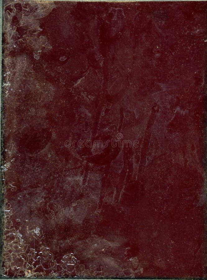 Vuil rood glas royalty-vrije stock foto