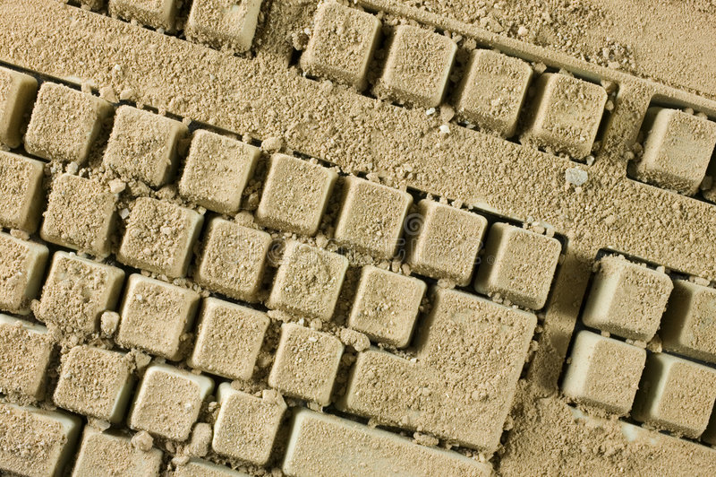 Vuil toetsenbord stock afbeelding