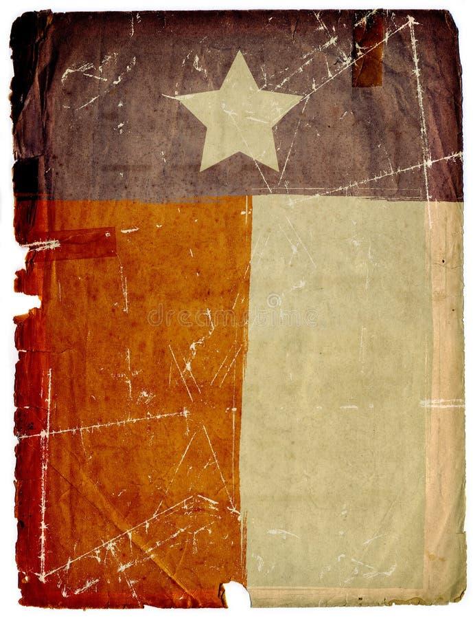 Vuile Amerikaanse van het Document van de Vlag Grunge Textuur Als achtergrond royalty-vrije illustratie