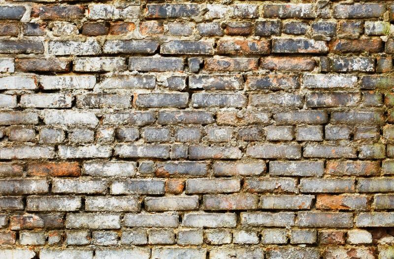 Vuile bakstenen muur - grunge achtergrond stock afbeeldingen