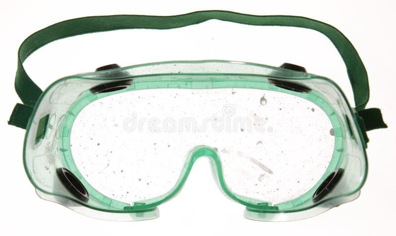Vuile Beschermende brillen stock fotografie