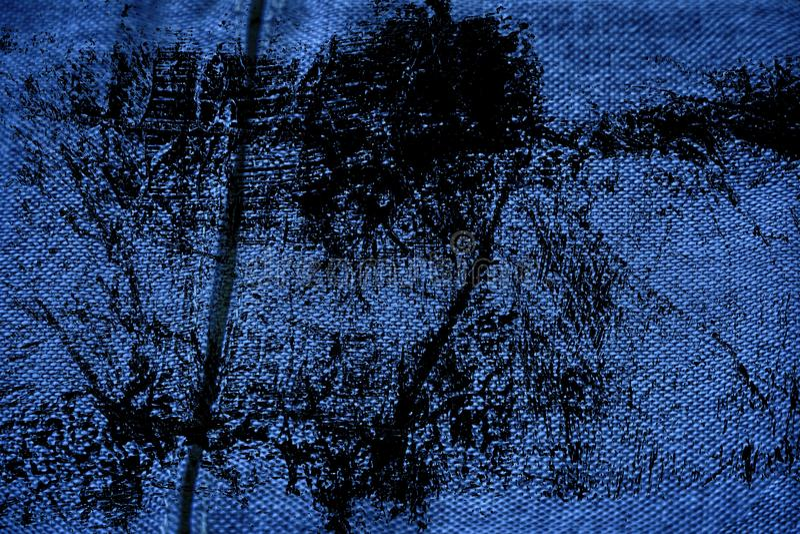 Vuile de stoffenoppervlakte van het grunge ultra blauwe Linnen voor model of ontwerpergebruik, de steekproef van de boekdekking,  royalty-vrije stock fotografie