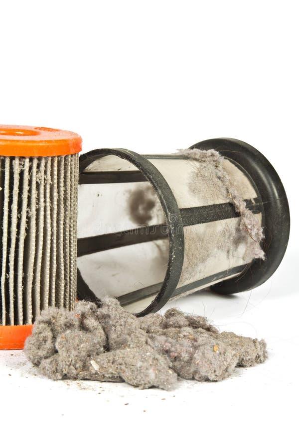 Vuile filter stofzuiger royalty-vrije stock afbeeldingen