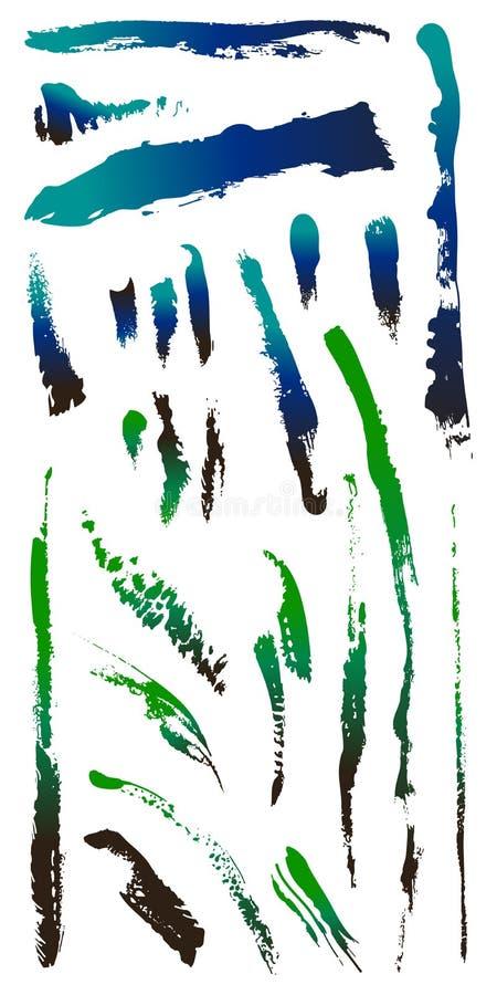 Vuile gebarsten Vormen 4 van de grungekras splat vlek royalty-vrije illustratie