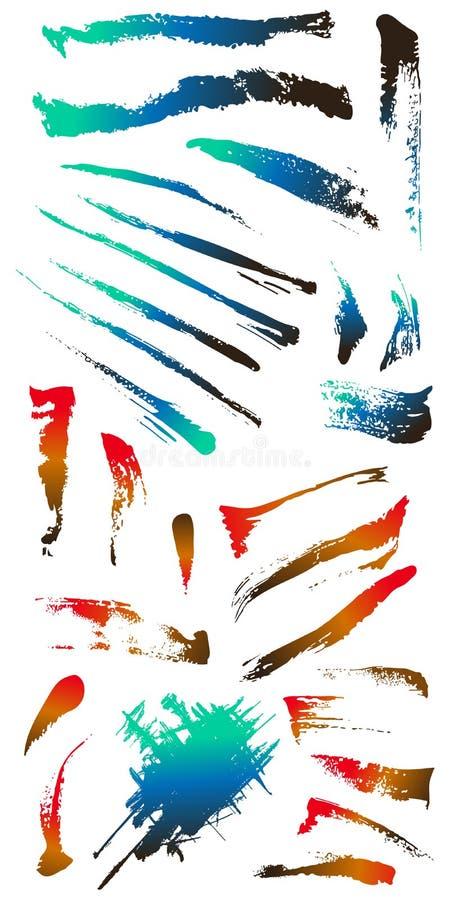Vuile gebarsten Vormen 5 van de grungekras splat vlek vector illustratie