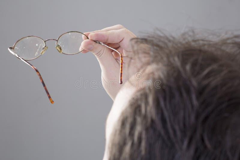 Vuile glazen - Gafas-sucias Fondoneutro royalty-vrije stock afbeelding