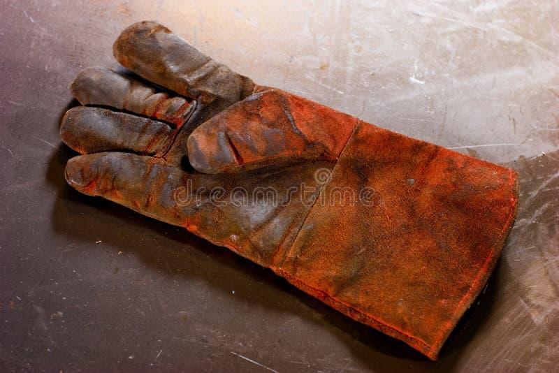 Vuile handschoen royalty-vrije stock afbeeldingen