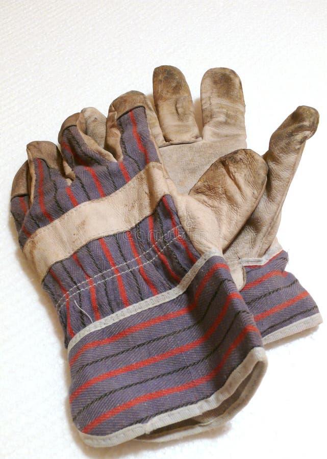 Vuile handschoenen royalty-vrije stock afbeelding