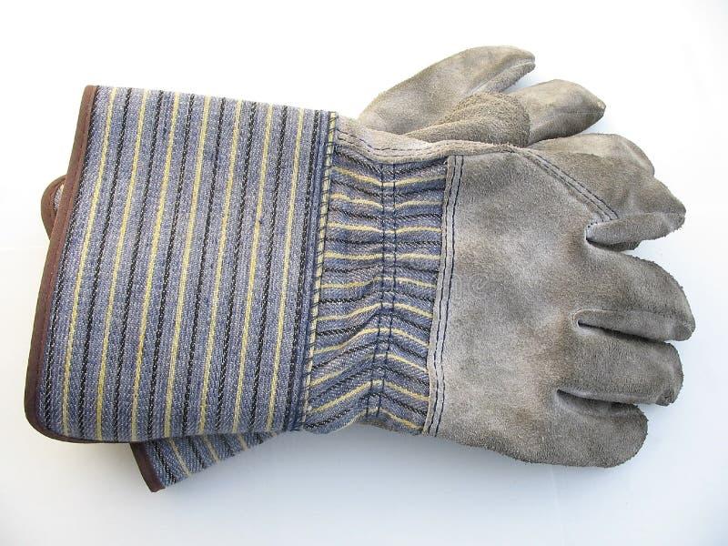 Vuile het werkhandschoenen stock fotografie