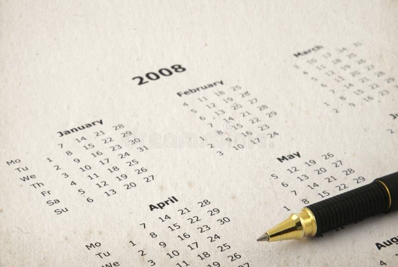 Vuile jaarlijkse kalender stock fotografie