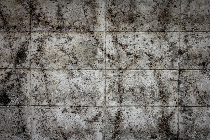 Vuile oude concrete muren, Geweven achtergrond royalty-vrije stock foto's