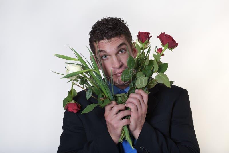 Vuile rotte bloemen royalty-vrije stock foto's