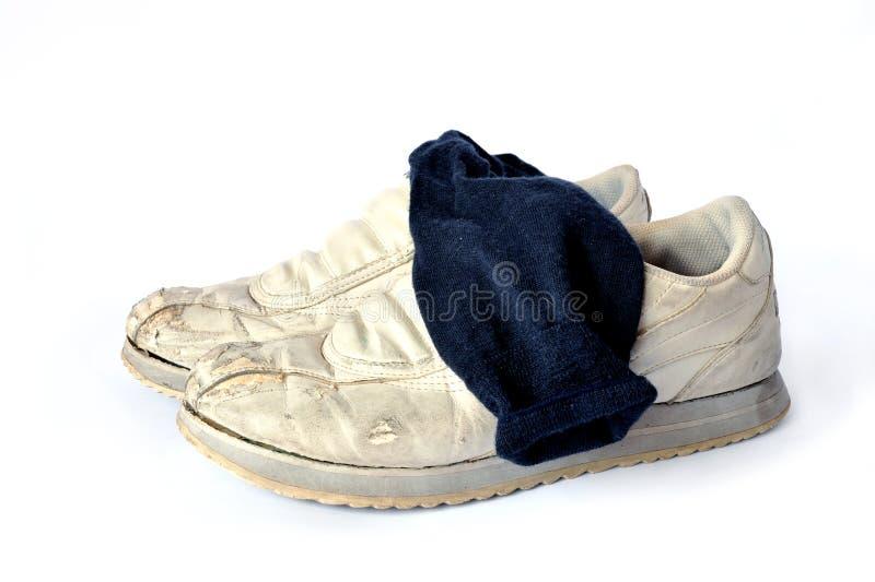 Vuile sokken royalty-vrije stock afbeelding