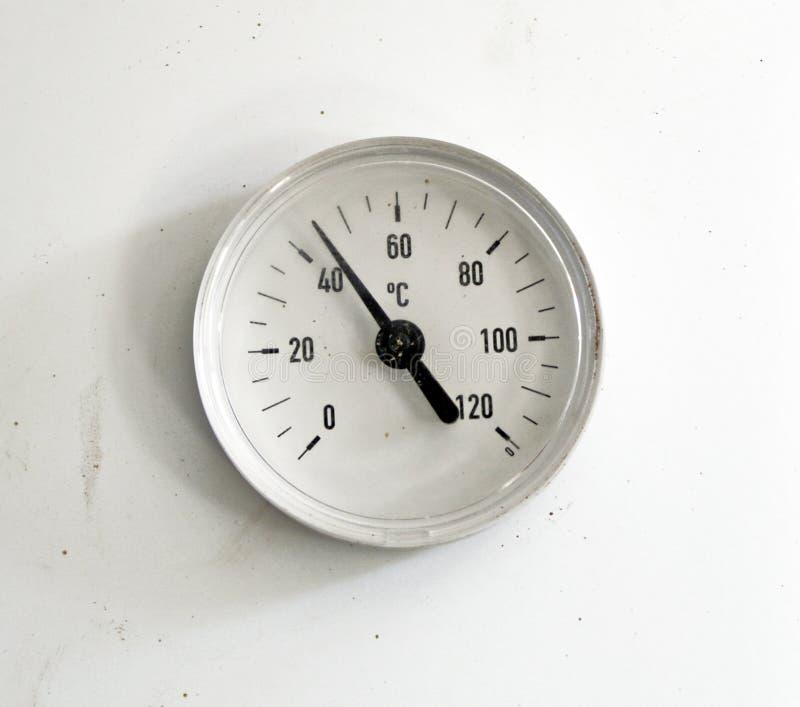 Vuile thermometer royalty-vrije stock fotografie