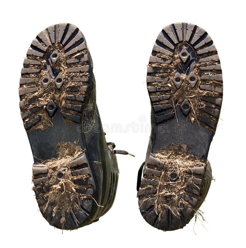Vuile zolen van schoenen royalty-vrije stock foto's