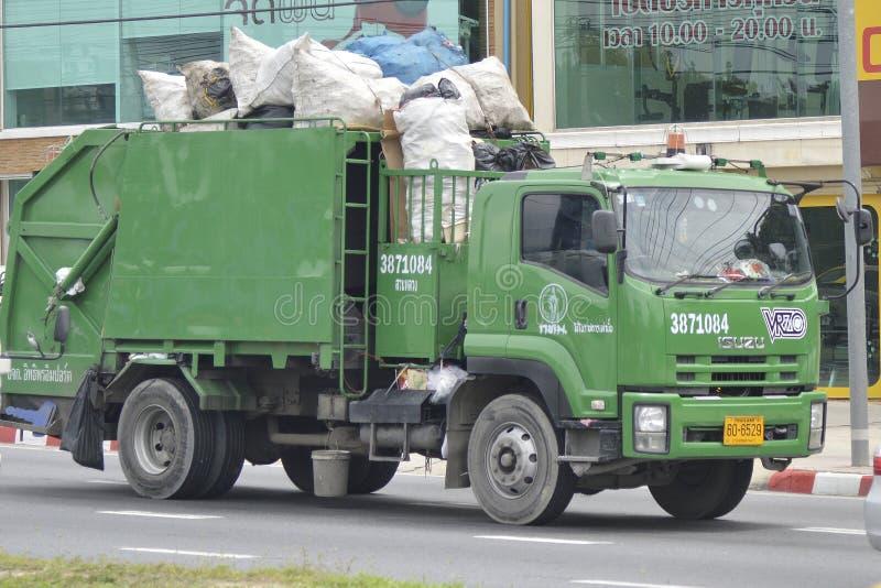 Vuilnisauto stock afbeelding