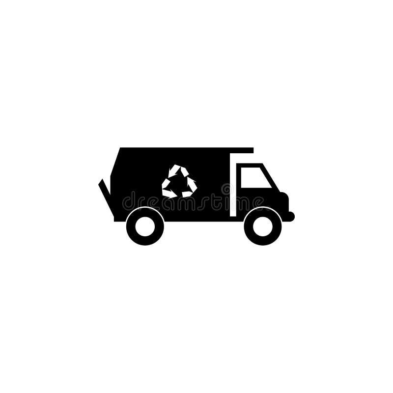 Vuilnisautopictogram Elementen van vervoerpictogram Grafisch het ontwerppictogram van de premiekwaliteit Tekens en symboleninzame vector illustratie