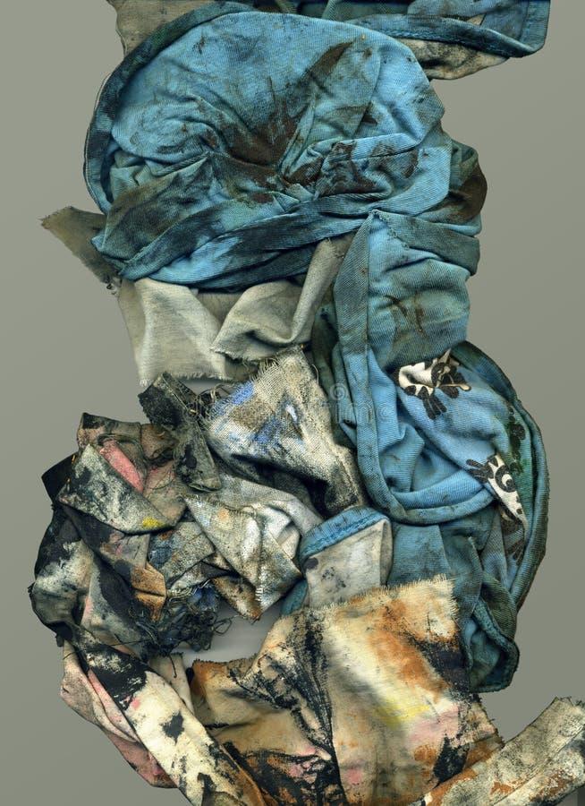 Vuilpaar van stoffen grunge textuur stock foto's